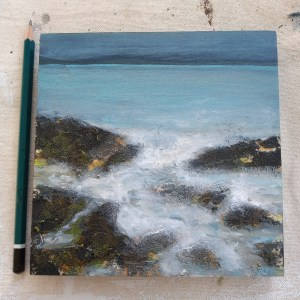Incoming sea painting