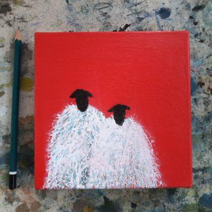 Love Ewe sheep painting