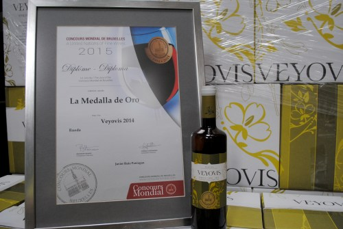 Gold Medal for Veyovis in the Concours Mondial of Brussels 2015.