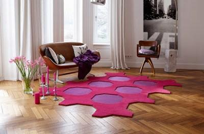Vorwerk Teppichboden Teppichfliesen-Set Octagon zweifarbig