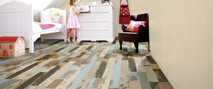 Wineo 600 Wood Klickvinyl Kinderzimmer Patchwork