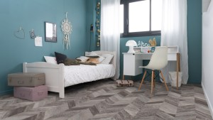 Gerflor Senso Lock Fishbone 0777 Jugendzimmer
