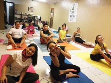 Focus on yogic breathing