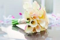 Beautiful calla lilies bouquet