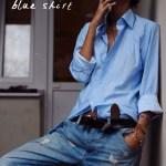 denim + blue shirt   outfit perfection