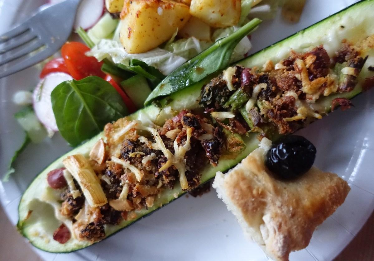 Ovnsbakt fylt squash - vegetar