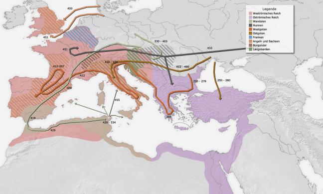 2. Voelkerwanderungkarte