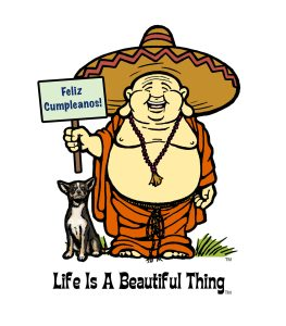 """Life is a Beautiful Thing"" Buddha sombrero."