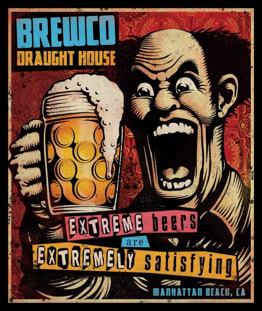 Brewco Extreme Beers poster.