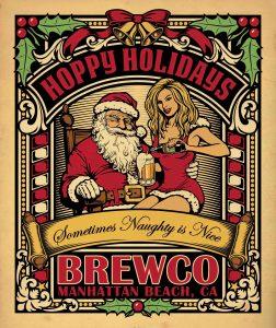 Brewco Hoppy Holidays poster.