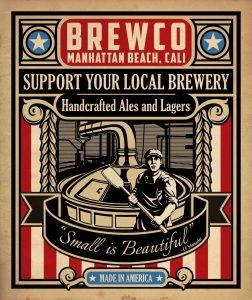Brewco Local Breweries poster.