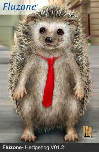 Fluzone commercial hedgehog V01. Designed for Legacy Effects.