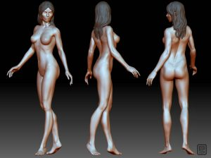 Female study Zbrush sculpt.