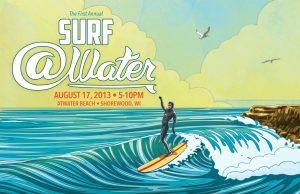 Surf @Water postcard