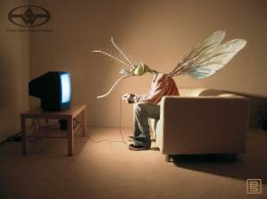 Geek Squad commercial mosquito boy concept designed for Stan Winston Studio.