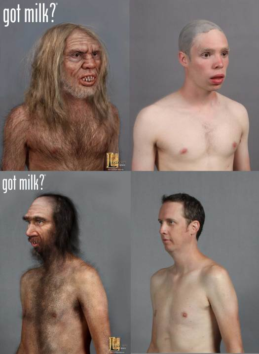gotmilk? commercial- caveman concepts designed for Legacy Effects.