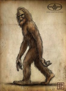 Jeep Bigfoot sketch designed for Stan Winston Studio.