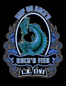 Rock'n Fish L.A. Live T-shirt design V04.