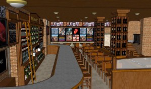 Rock'n Fish L.A. Live interior render 2 designed for The Studio El Segundo.