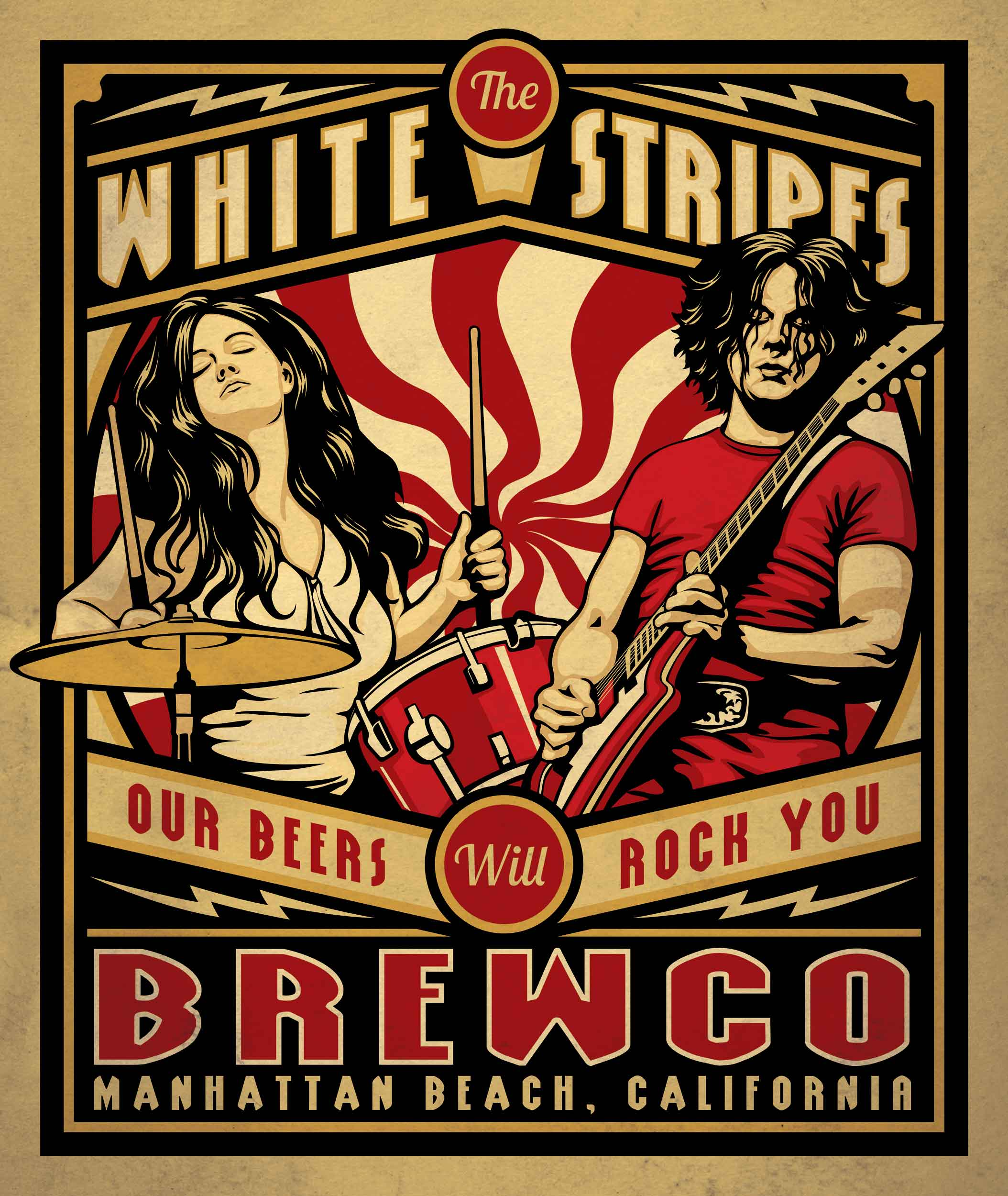 Brewco White Stripes poster