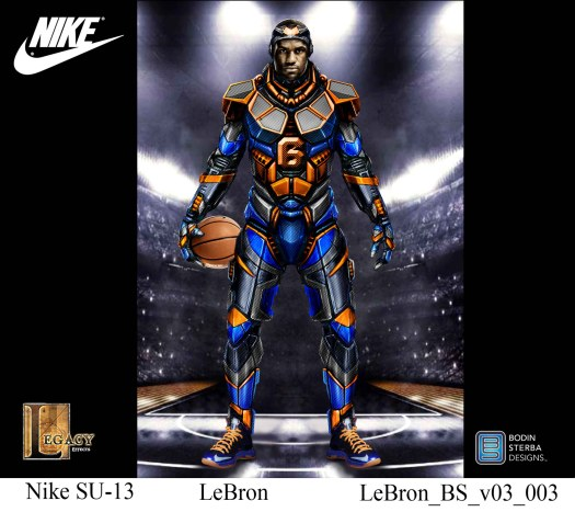 Lebron James Nike Superhero Elite Suit 2D design
