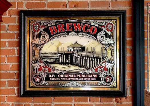 Brewco Original Publicans glass art piece