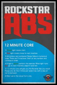 "Rock'n Fitness ""Rockstar Abs"" sign"