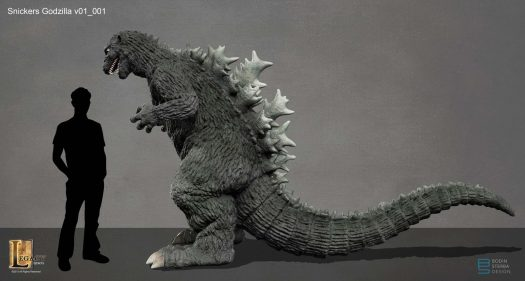 Snickers Godzilla design- profile