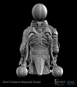 Bodock- Giant Creature maquette sculpt