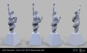 CDG Statuette for Comic-Con Masquerade Ball