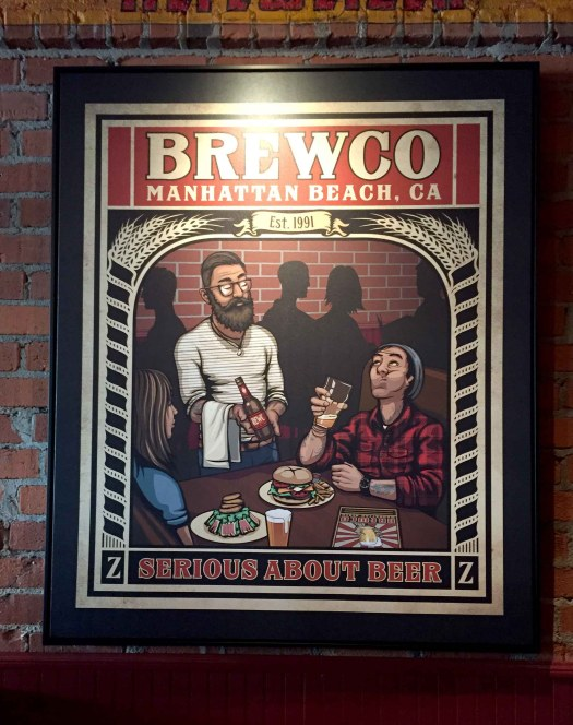 "Brewco Serious About Beer canvas print. The owner commissioned me to create a Brewco version of the New Yorker cover featuring the illustration ""Hip Hops"" by Peter de Séve."