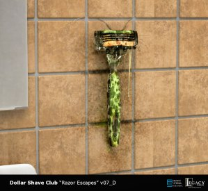 "Dollar Shave Club early ""Razor Escapes"" design"