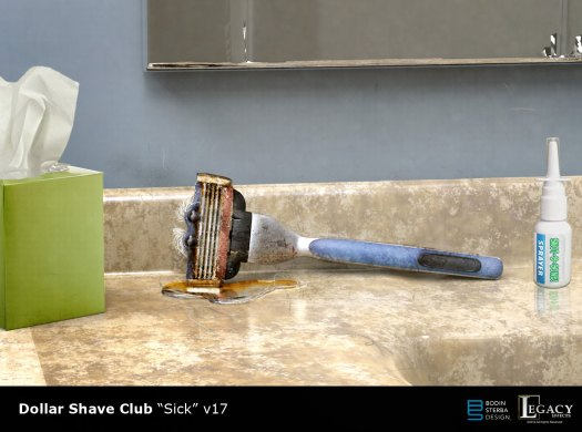 "Dollar Shave Club early ""Sick Razor"" design"