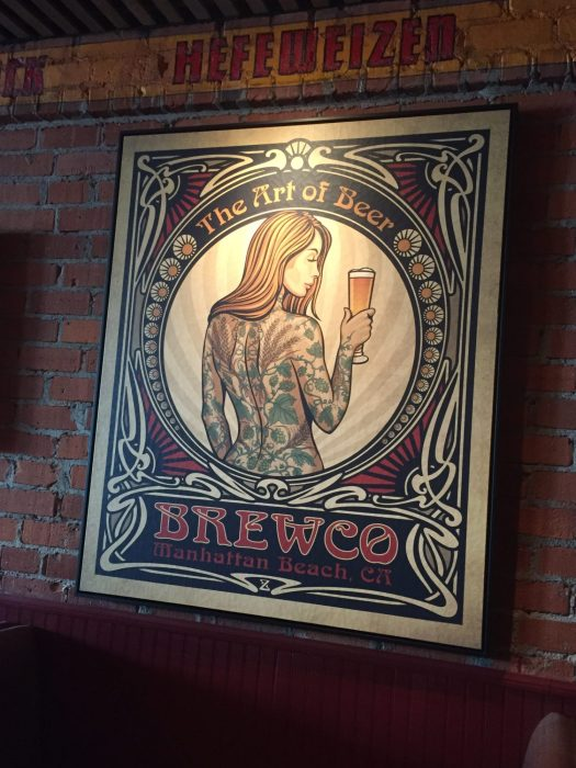 Art of Beer canvas print on display at Brewco Manhattan Beach.