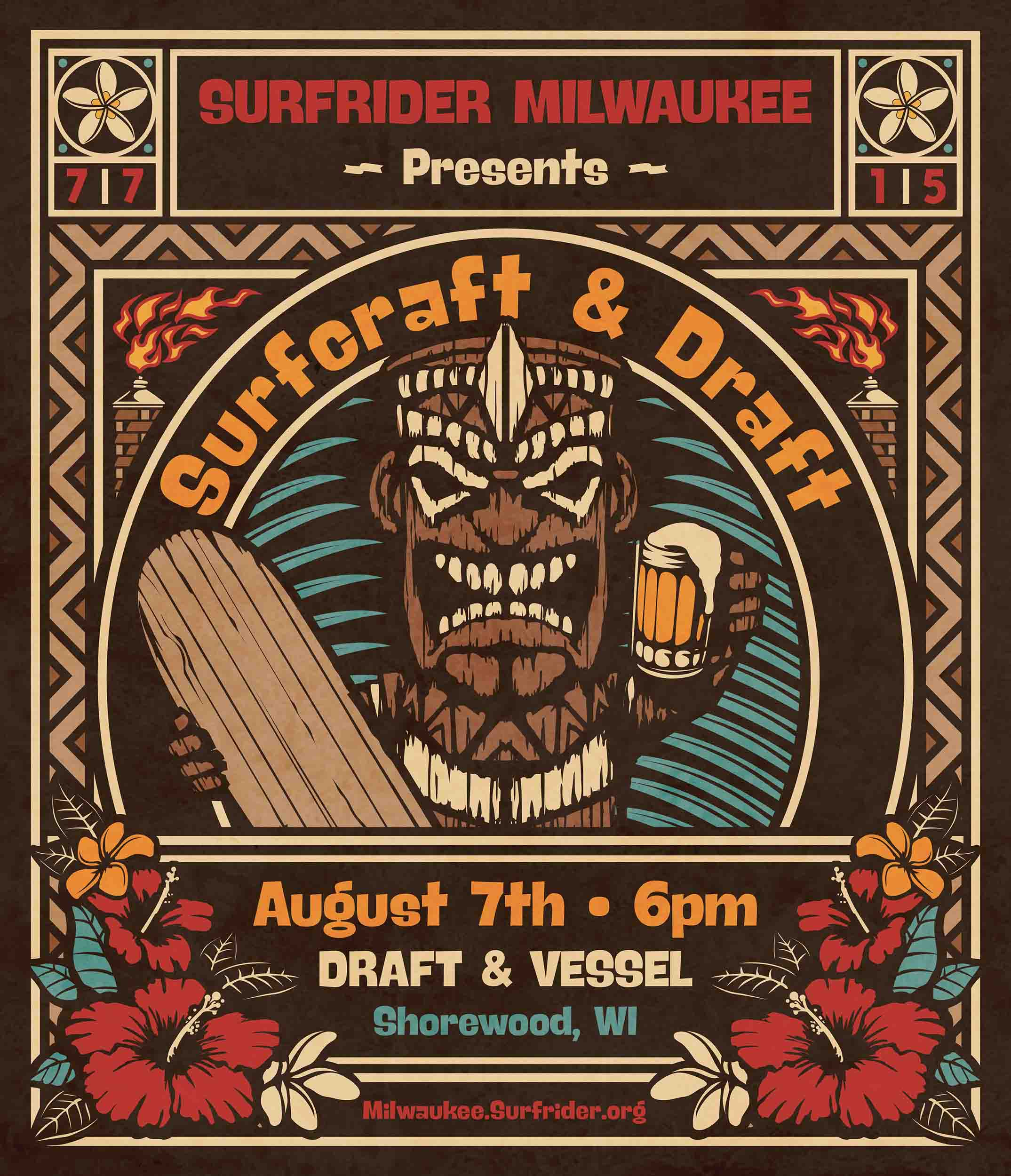 Surfrider Surfcraft & Draft poster. (Created from a recycled Brewco poster ;)