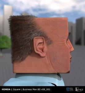 "Businessman design for Honda Civic Coupe ""Square"" commercial"