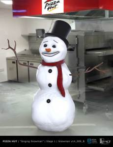 Pizza Hut Singing Snowman Stage 1
