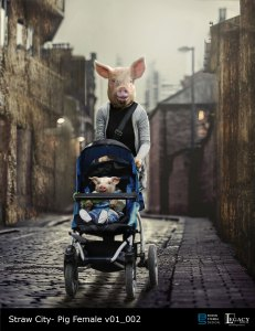 """The Real Cost Commercial: """"Straw City"""" Mother Pig and baby"""