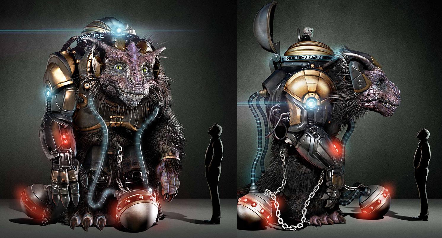 Bodock the Giant Creature Designs for Comic-Con 2014