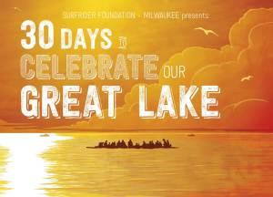 Surfrider Foundation Milwaukee 30 Days Postcard. Original photo by my pal, Ryan Bigelow, used as photo ref.