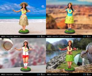 Arco Hanna the Hula Girl design