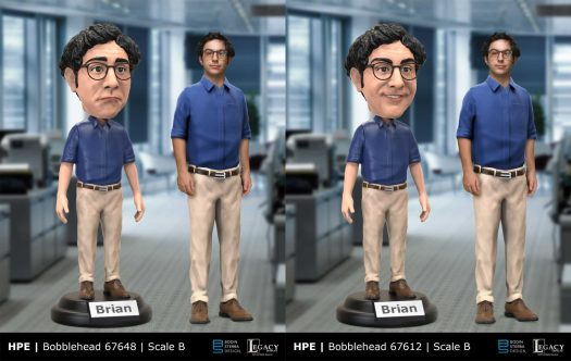 Hewlett Packard Enterprise Bobblehead design