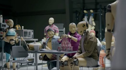Screen Shot from Toyota Safety Sense Crash Test Dummies