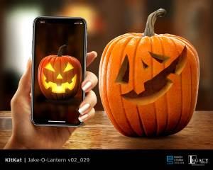 """KitKat """"Jake-O-Lantern"""" design"""