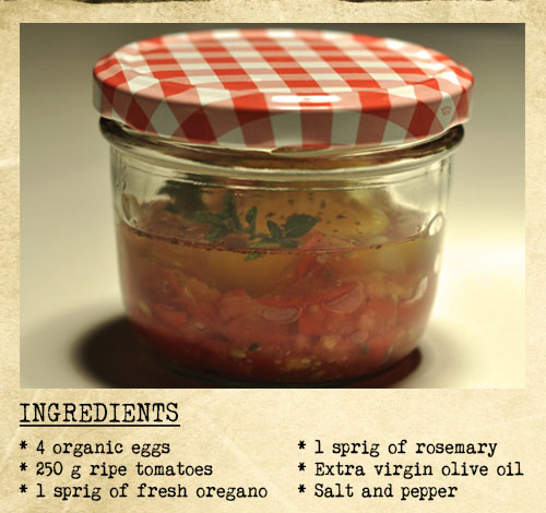 Dishwasher-cooking-recipe-for-eggs-with-tomato-and-herbs