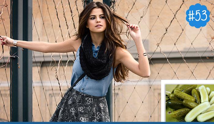 Selena-Gomez-loves-to-snack-on-pickles