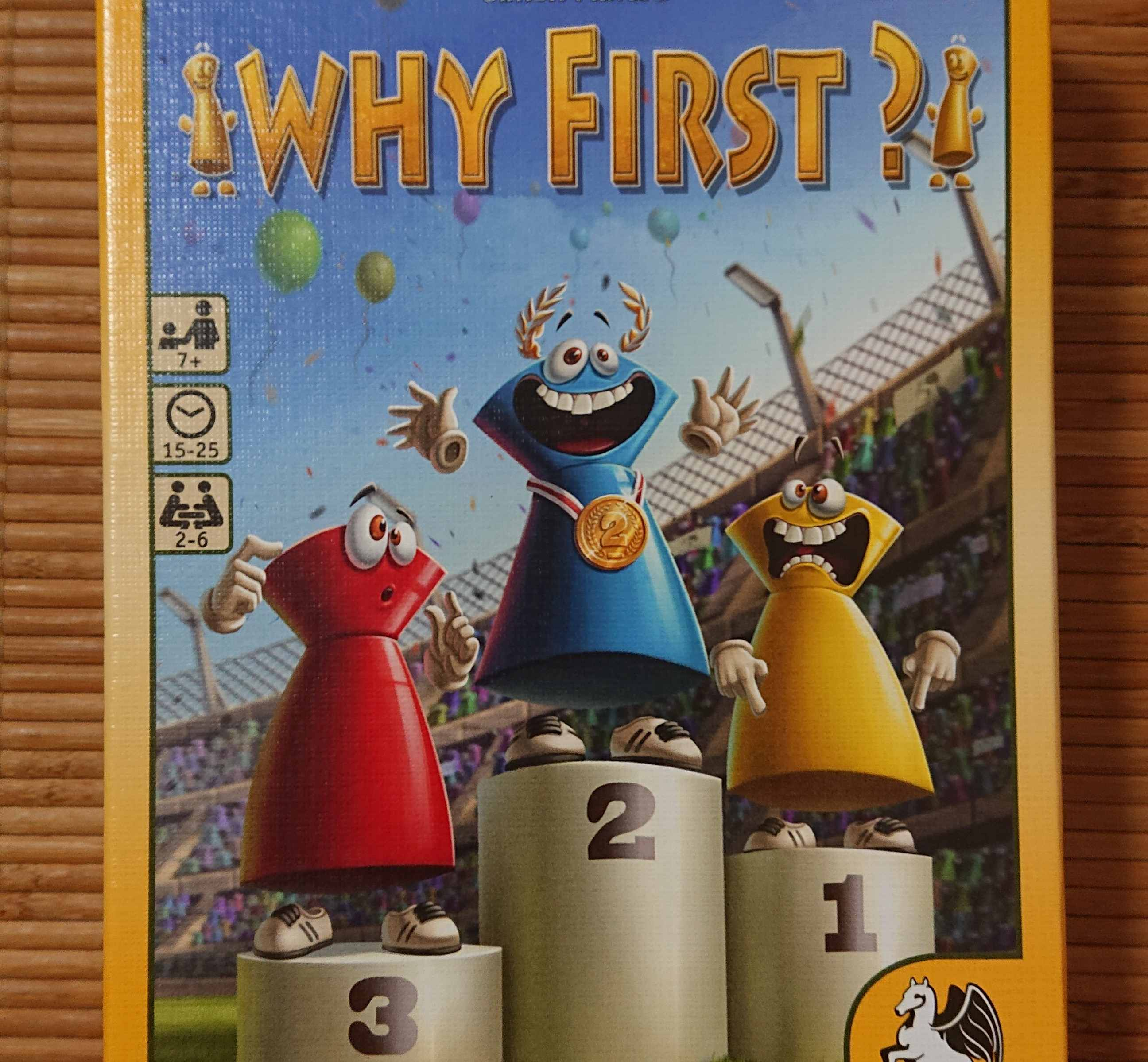 2位じゃダメなんですか?(Why First) ボードゲーム紹介