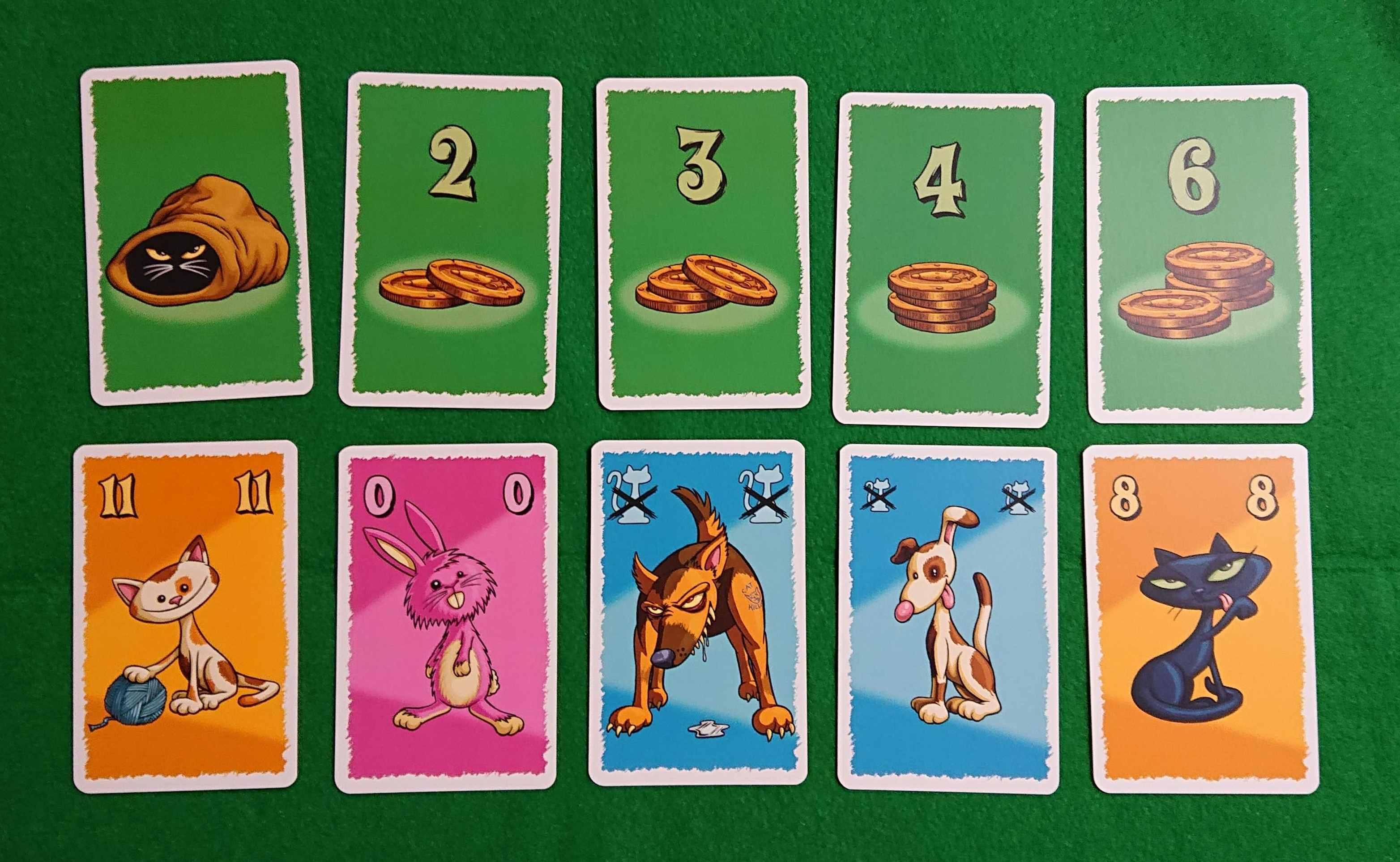 袋の中の猫フュロー 競り系カードゲーム 猫を集める!? ルール説明 ボードゲーム