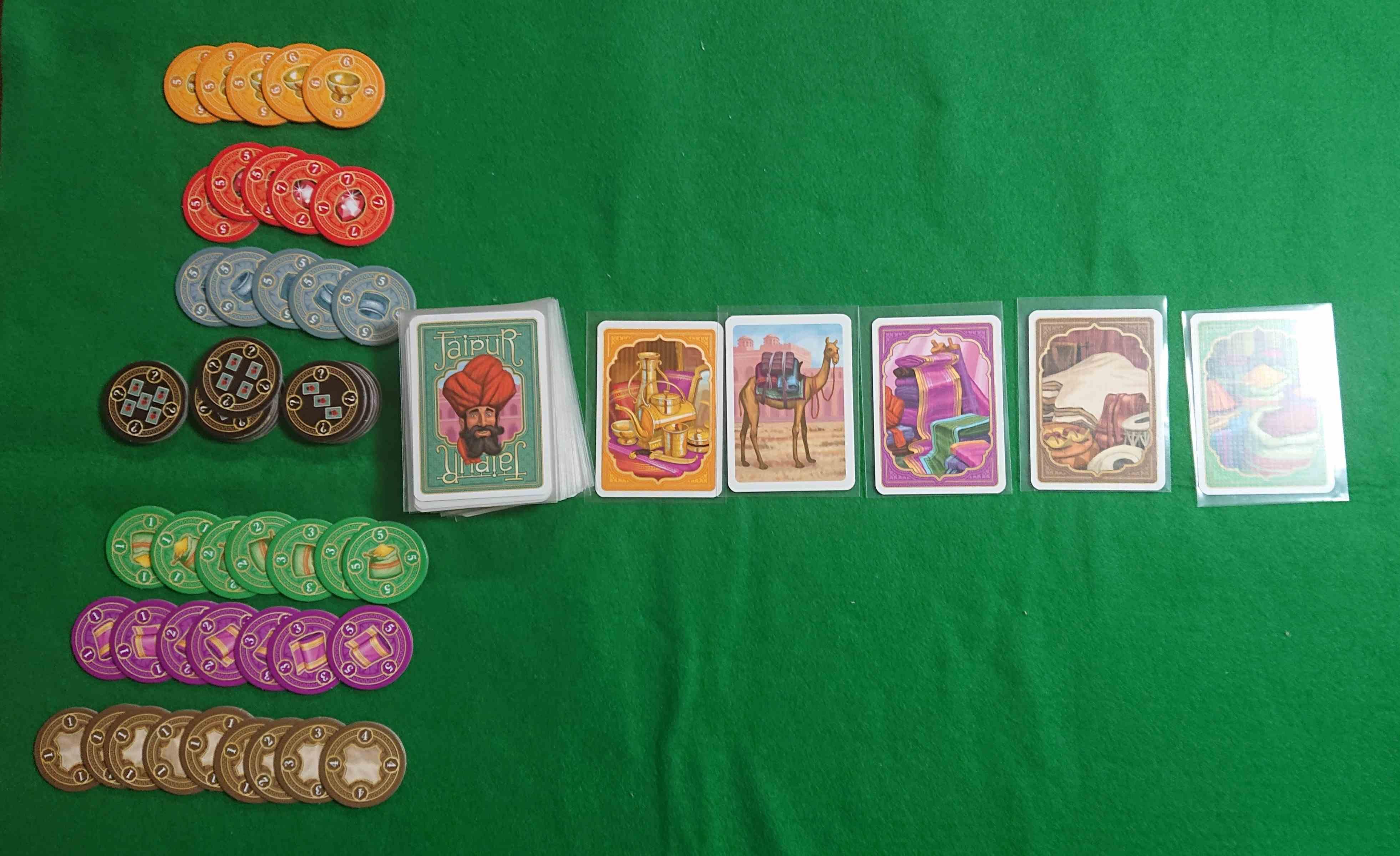 ジャイプル 傑作カードゲーム マハラジャの商人としてお金を稼げ! ルール説明 ボードゲーム