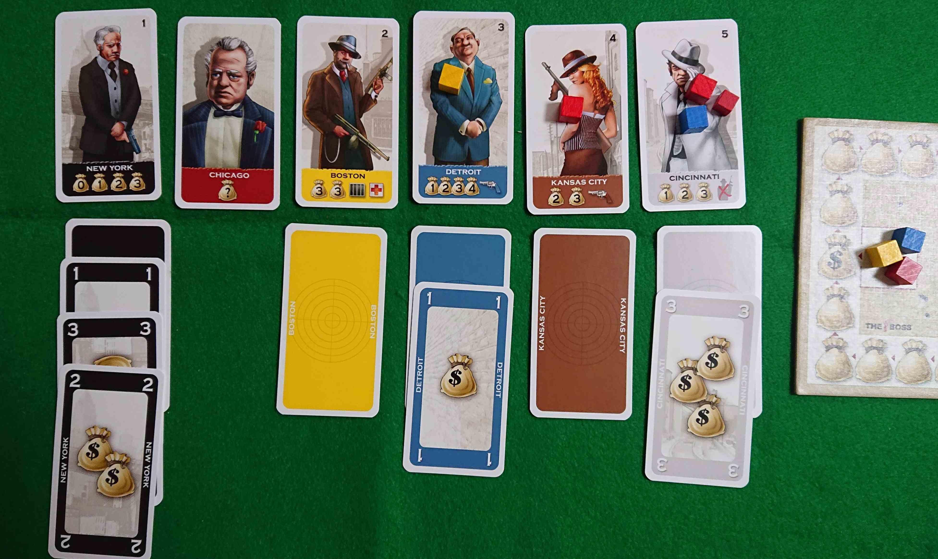 THE BOSS(ザ ボス) 傑作カードゲーム紹介 手下を送り街を支配し金を稼ぐ! ルール説明 ボードゲーム